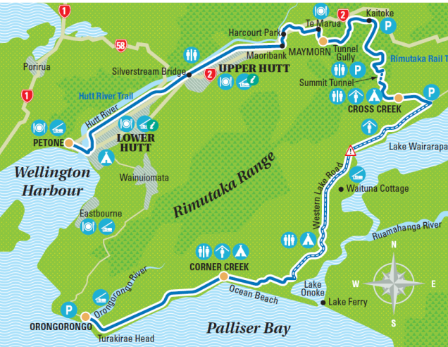 Rimutaka Cycle Trail Map