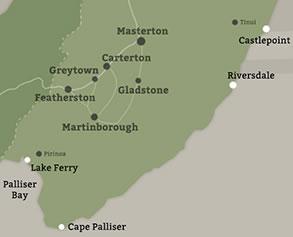 Wairarapa Coastal Areas map