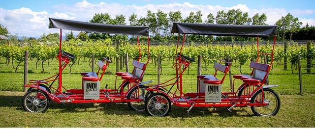 Bike around the vines in style!