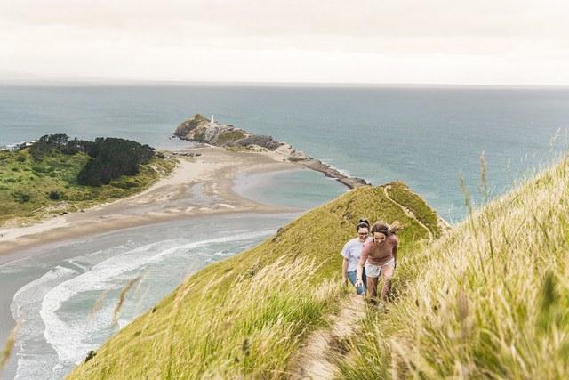 Walking up Castle Rock