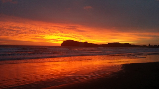 Sunrise at Castlepoint, Wairarapa