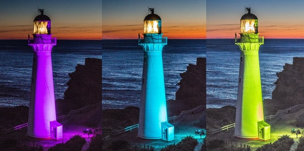 A magical lightshow-every night from 9pm at Castlepoint. Photo credit Judy Wagg
