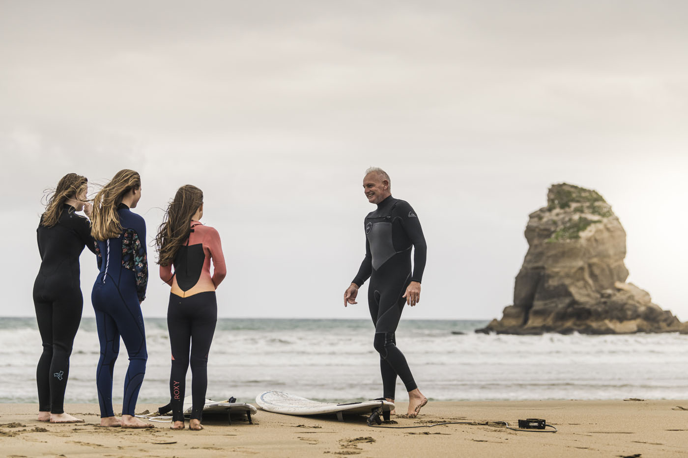 Surfing at Castlepoint