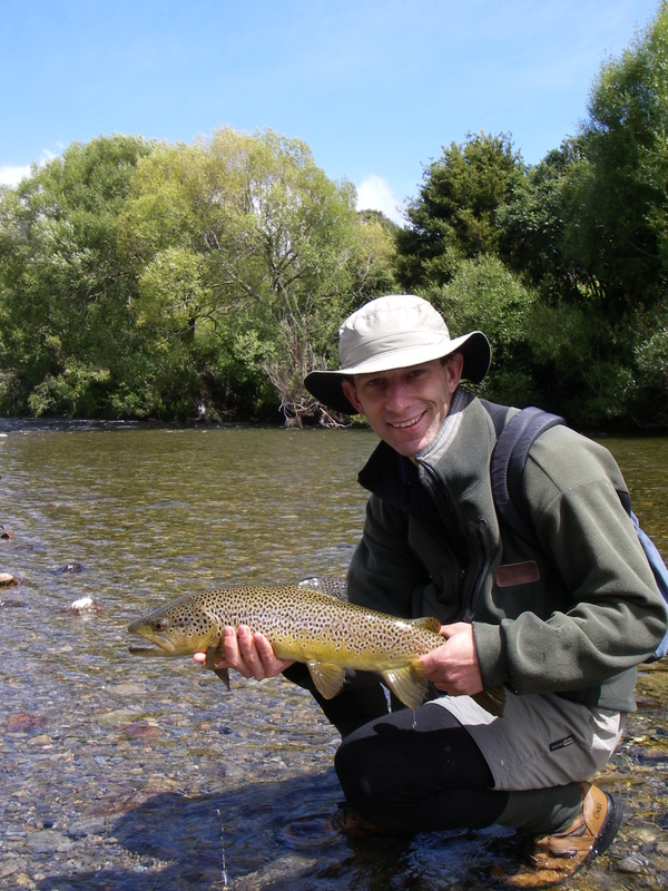 Trout fishing on the Ruamahanga River