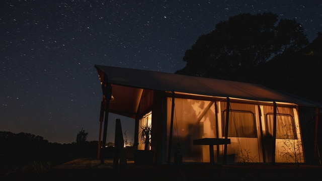Dark sky glamping at Rivers Edge