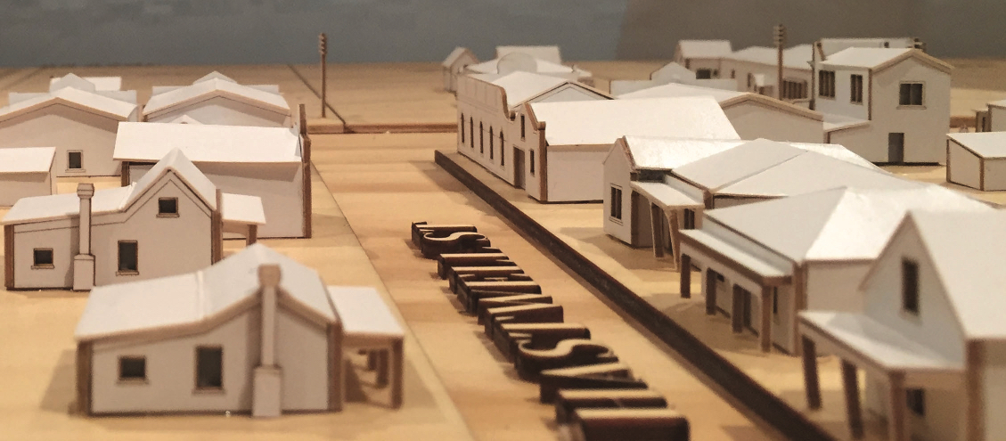 A scale model of Greytown's main street at Cobblestones