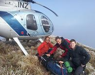 A family accessing the Tararua Tops