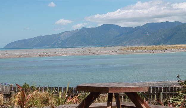 The view from the Lake Ferry Hotel, Cape Palliser