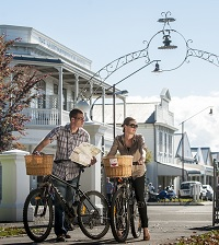 Bikes in Martinborough Square