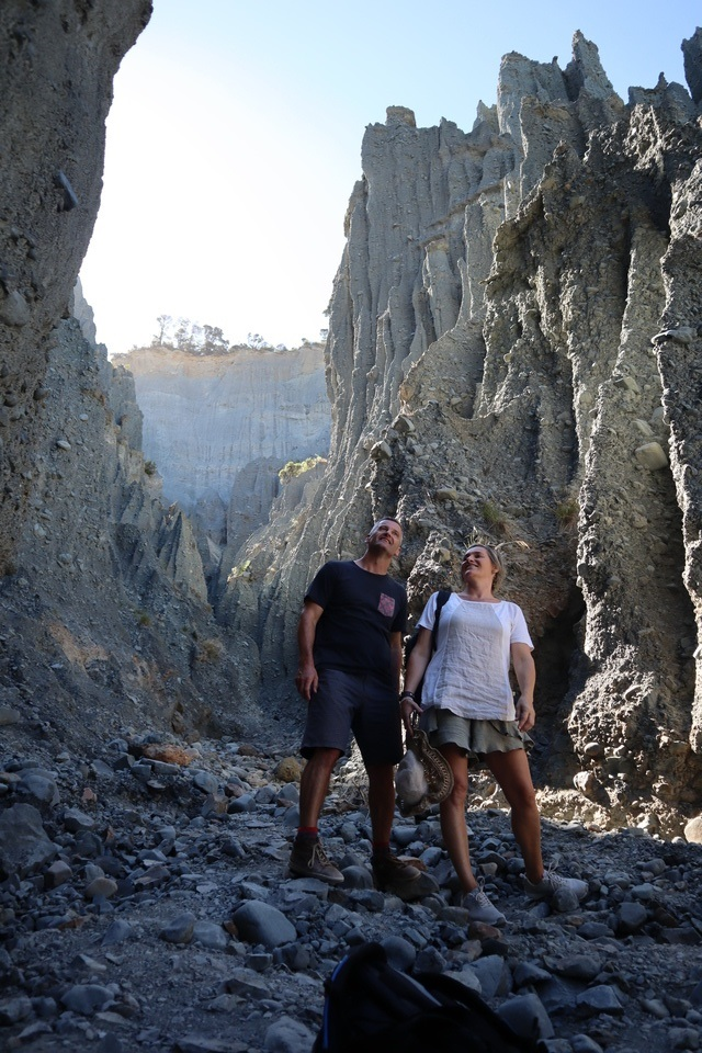 The impressive Putangirua Pinnacles