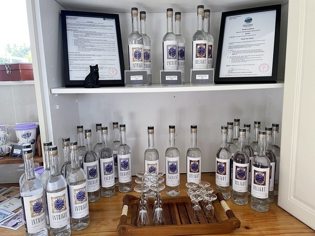 Lavender infused gin, vodka and liqueur