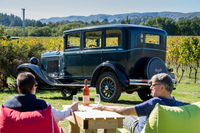Wine tours in a vintage car