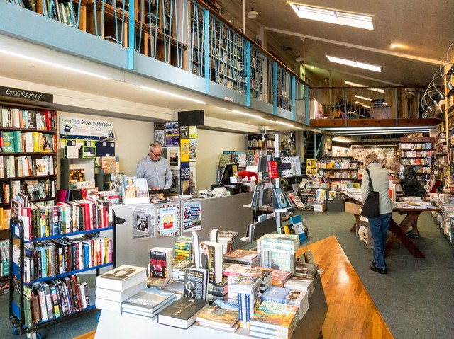 Inside Hedleys thriving bookstore