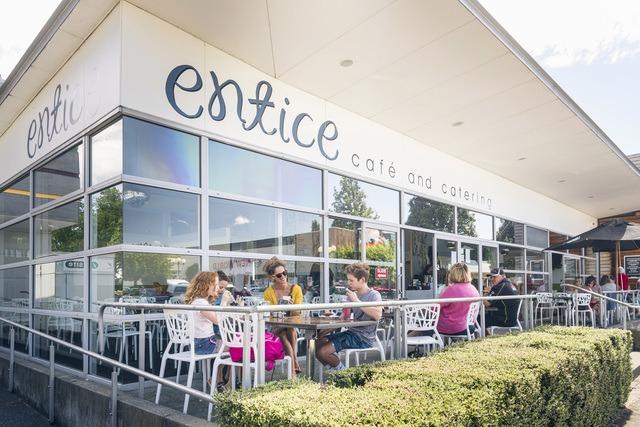 A super sunny spot outside Entice!
