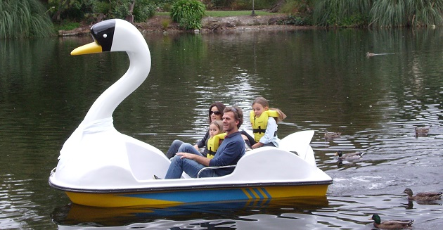 Pedal boats at Queen Elizabeth Park, Masterton