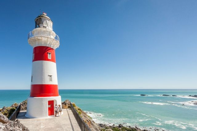 The stunning lighthouse at Cape Palliser