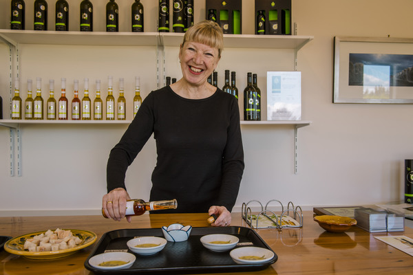 Helen from Olivo - a great  tasting of her lovely oils