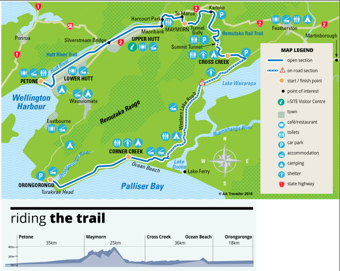 Remutaka Cycle Trail map